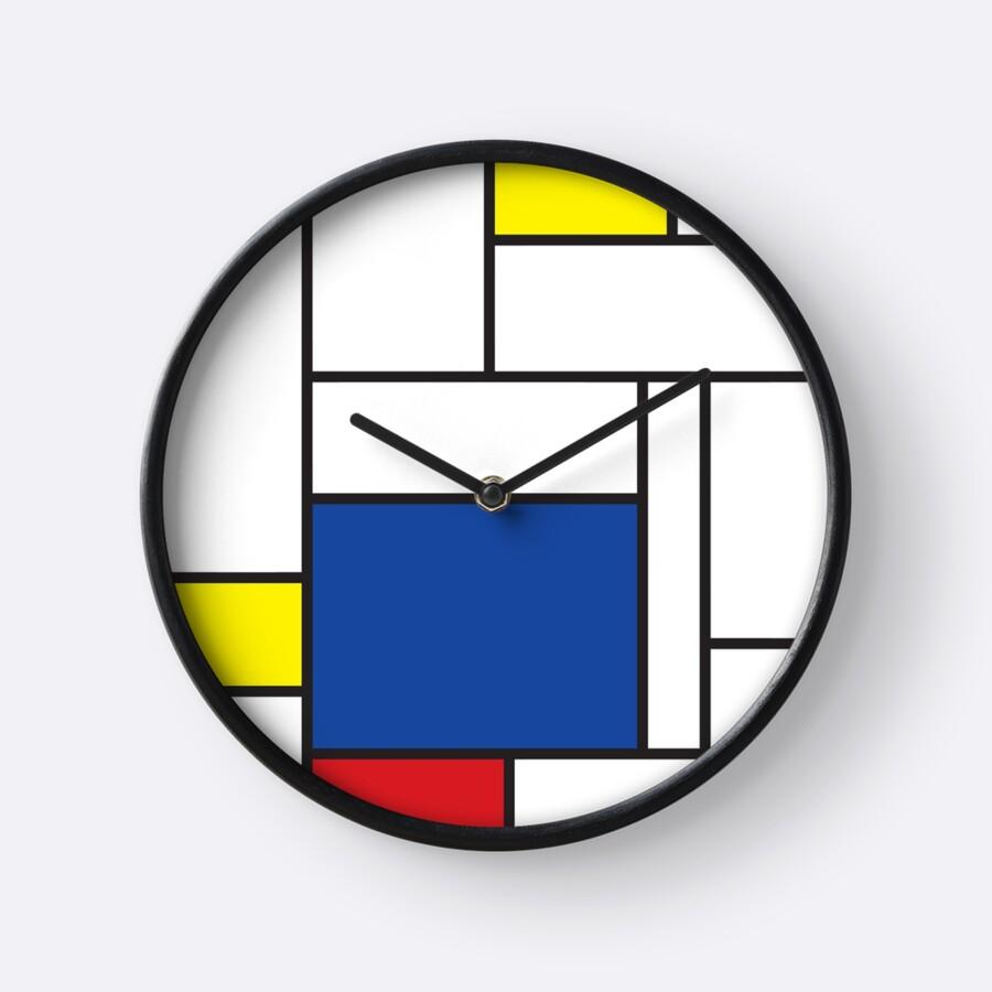 Mondrian Minimalist De Stijl Modern Art Ii Clocks By