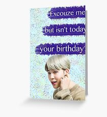 Jimin Birthday Card Greeting Card