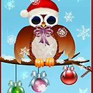 Merry Christmas Owl by Lotacats