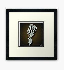 Classic Microphone Framed Print