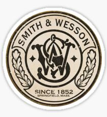 Smith & Wesson Weathered Emblem Sticker