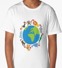 We Love Our Planet | Animals Around The World Long T-Shirt