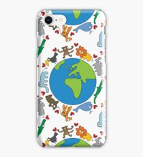 We Love Our Planet | Animals Around The World iPhone Case/Skin
