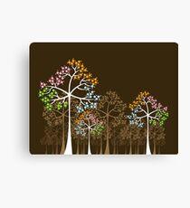 Colorful Four Seasons Trees Canvas Print