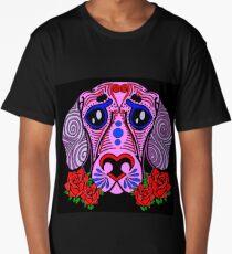 Sugar skull puppy Long T-Shirt