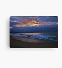 Enchanted Evening On The Beach, Algarobo, Chile Canvas Print