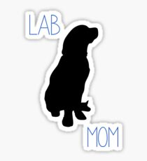 Lab Mom Sticker