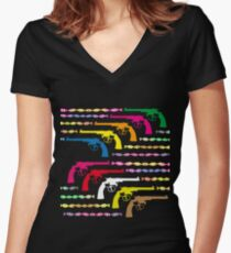 Loaded with DNA Women's Fitted V-Neck T-Shirt