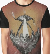 War of the Worlds by H. G. Wells - Book Cover Graphic T-Shirt