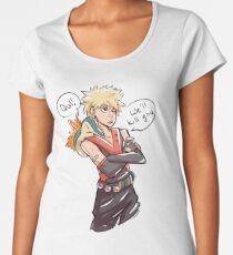 Kacchan and Cyndaquil Women's Premium T-Shirt