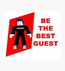 Roblox Best Guest Photographic Print