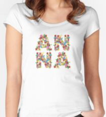Spring Flowers ANNA Women's Fitted Scoop T-Shirt