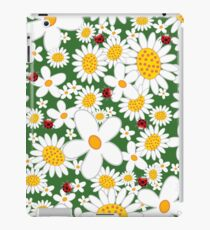 White Daisies and Red Ladybugs iPad Case/Skin