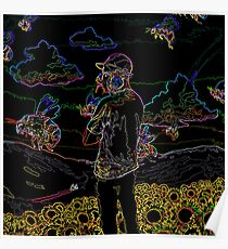 Scum Fuck Neon Boy - Tyler, The Creator Poster