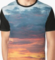 Vibrant Sunset Clouds Graphic T-Shirt
