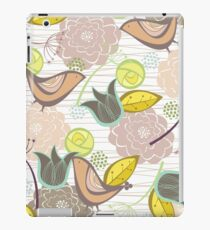 Pink Floral Potpourri Garden and Birds iPad Case/Skin