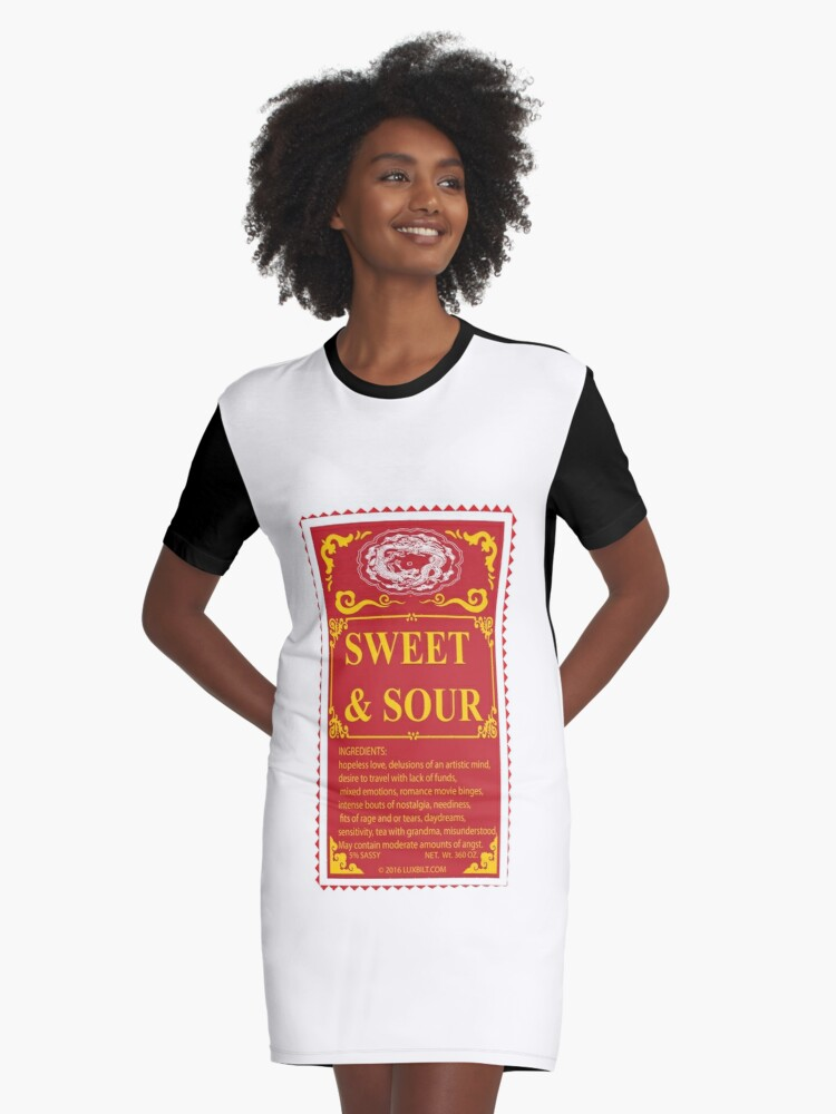 SWEET AND SOUR  Graphic T-Shirt Dress Front