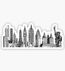 new york skyline sticker Sticker