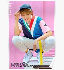 Wanna Oneㅣ1st Mini Album Photo #2 Park Woojin (공원 우진) 워너원의 데뷔 앨범 1X1=1 (TO BE ONE) Poster