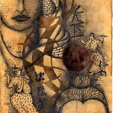 oriental print by patsymbush