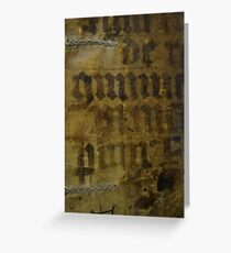 Medieval Book Cover Greeting Card