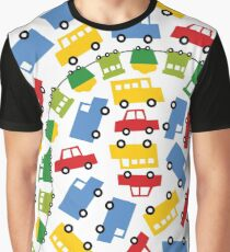 Boys Toys | Cars Trains Buses Trucks Fun Transport Graphic T-Shirt