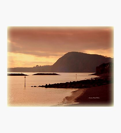 Dusk in Sidmouth Photographic Print