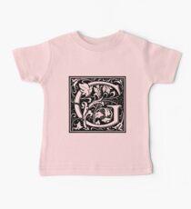 William Morris Renaissance Style Cloister Alphabet Letter G Kids Clothes