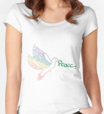 World Peace Dove Women's Fitted Scoop T-Shirt