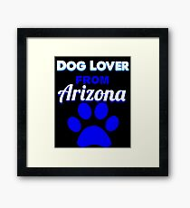 Dog Lover From Arizona Framed Print