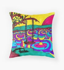 Seuss Landscape Throw Pillow