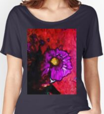 Lavender Flower with some Pink and Red Women's Relaxed Fit T-Shirt