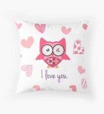 Romantic Love Bird Throw Pillow