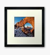Snow and Nature Framed Print