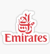 Emirates - Fly Emirates (Red) Sticker