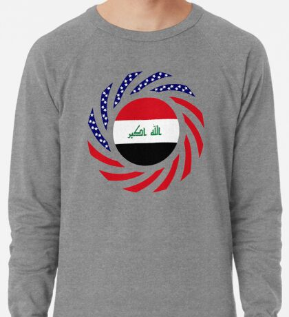 Iraqi American Multinational Patriot Flag Series Lightweight Sweatshirt