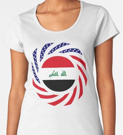 Iraqi American Multinational Patriot Flag Series Premium Scoop T-Shirt