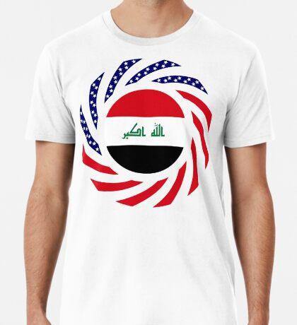 Iraqi American Multinational Patriot Flag Series Premium T-Shirt
