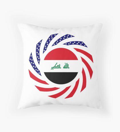Iraqi American Multinational Patriot Flag Series Throw Pillow