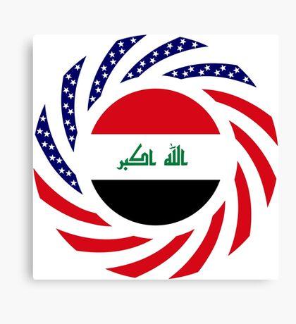 Iraqi American Multinational Patriot Flag Series Canvas Print