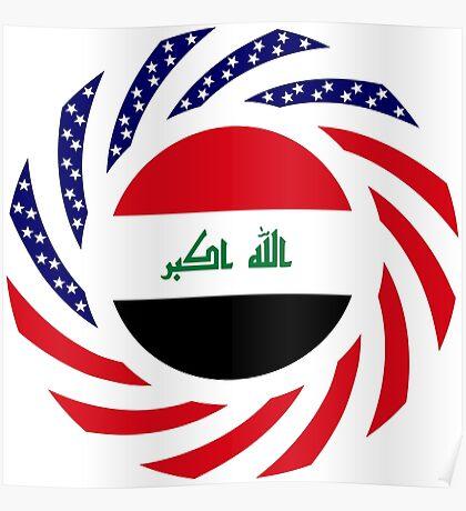 Iraqi American Multinational Patriot Flag Series Poster