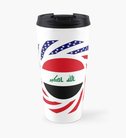 Iraqi American Multinational Patriot Flag Series Travel Mug