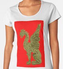 GOLDEN DRAGON SCULPTURE/RED Women's Premium T-Shirt