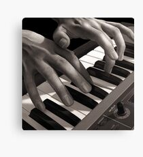 Soft Pads, Keyboard Player Oil Painting Canvas Print