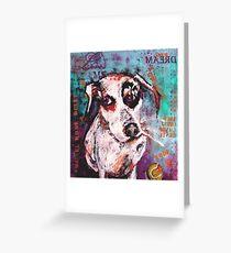 Diesel the dog Greeting Card