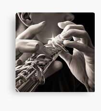 Warn Wind, Flute Player Oil Painting Canvas Print