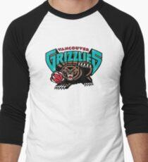 Vancouver Grizzlies Logo Men's Baseball ¾ T-Shirt