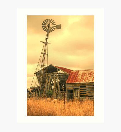 Rustic country Art Print