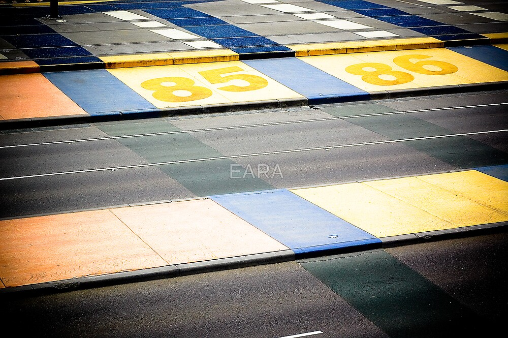 lines of blue of gold by EARA