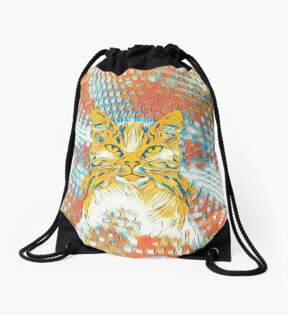 Yellow Cat Drawstring Bag